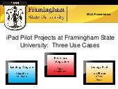 iPad Pilot Projects at Framingham S...
