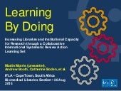 Learning by Doing: Increasing librarian and institutional capacity for research through a collaborative international systematic review action learning set