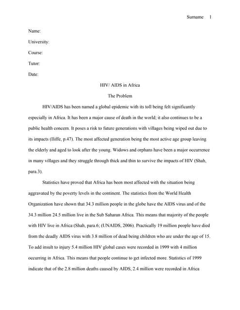 Superieur Hiv Essay Paper
