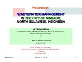 Wastewater Management in the city o...