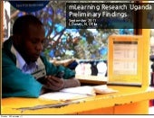 mLearning Initial Findings - Uganda...