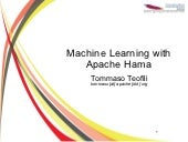 Machine learning with Apache Hama