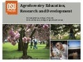 Agroforestry education, research and development