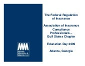 The Federal Regulation Of Insurance