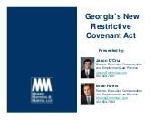 MMM/GA Restrictive Covenants Act We...