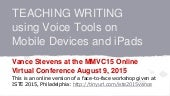 MMVC2015 - Teaching writing using voice tools on mobile devices and iPads