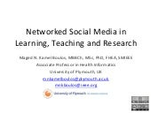 Networked Social Media in Learning,...