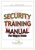 Ship Security Training Manual (Sample)