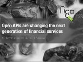 Open APIs are changing the next generation of financial services