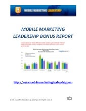 Mobile Marketing  B O N U S1  P D F