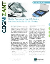 Mobile Payments: How U.S. Banks Can...