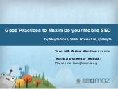Good Practices to Maximize Your Mobile SEO