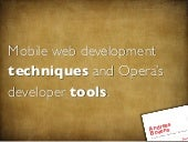 Mobile web development techniques (...