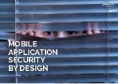 Mobile Application Security by Design