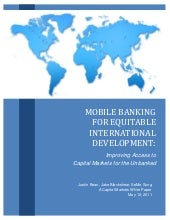 Mobile Banking for Equitable Intern...