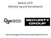Mobile CCTV [Monitoring and Surveillance] solutions by MRD