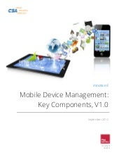 Mobile device management key compon...