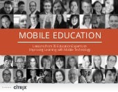 Mobile Education - Lessons from 35 ...