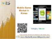 Mobile Game Market in Korea