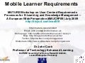 Mobile Learner Requirements