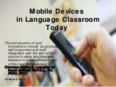 Mobile learning in language classroom