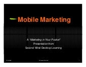 Mobile marketingpresentation pdf