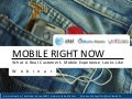 MOBILE RIGHT NOW: What A Real Customer's Mobile Experience Looks Like