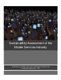Sustainability Assessment of the Mobile Services Industry