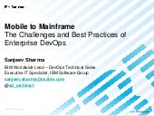 Mobile to mainframe - The Challenge...