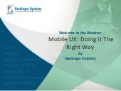 Webinar: Mobile UX: Doing It The Right Way