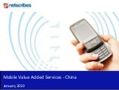 Mobile Value Added Services - China...