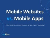 Mobile Websites vs. Mobile Apps.