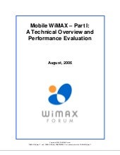 Mobile Wi Max Part1 Overview And Pe...