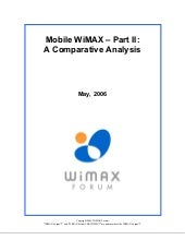 Mobile Wimax Part2 Comparative Anal...