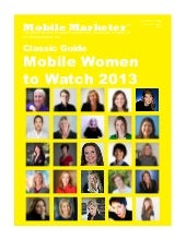Mobile women to watch for 2013