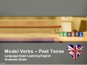 English Grammar - Using Modal Verbs...