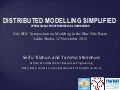 Distributed modelling simplified hydrological process models for humid areas