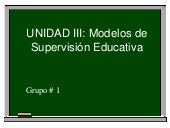 Modelos de Supervision Educativa