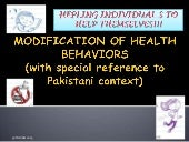 Modification of health behaviors