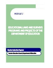 Module 1 educational laws and surve...