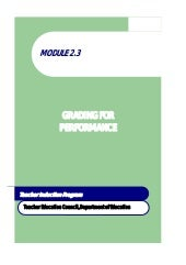 Module 2.3 grading for performance