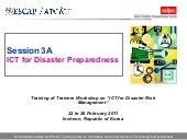 Module 9   ict for disaster prepare...