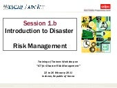 Module 9   introduction to disaster risk management
