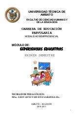 Modulo de experiencias educativas 1