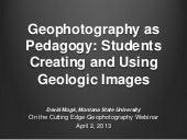 Geophotography as Pedagogy: Students Creating and Using Geologic Images