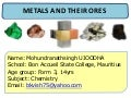 Mohun ujoodha metals and their ores form 3