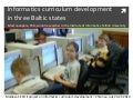 Informatics curricula in three Baltic states