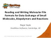 Reading and Writing Molecular File ...