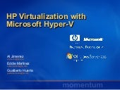 Momentum Webcast HP Virtualization