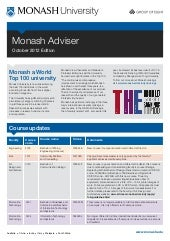 Monash adviser   october